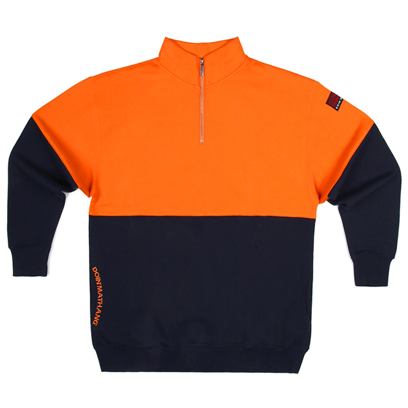PATCH HALF ZIP UP [ORANGE/NAVY]