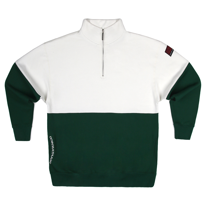PATCH HALF ZIP UP [IVORY/GREEN]