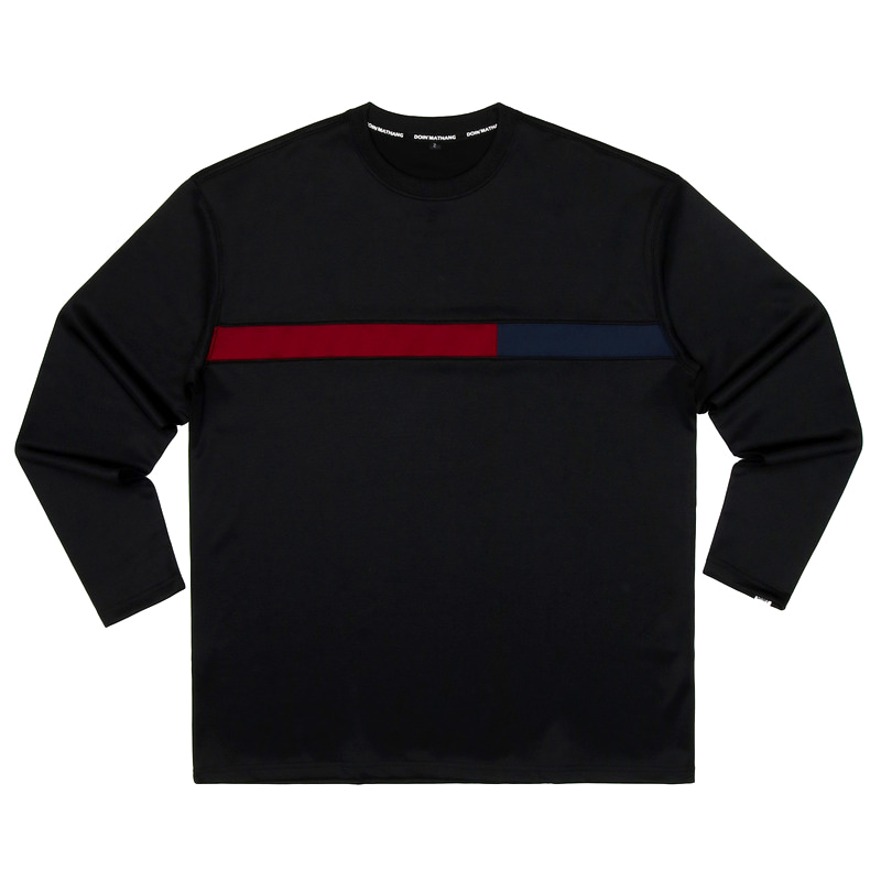 GRID STRETCH LONGSLEEVE [BLACK]