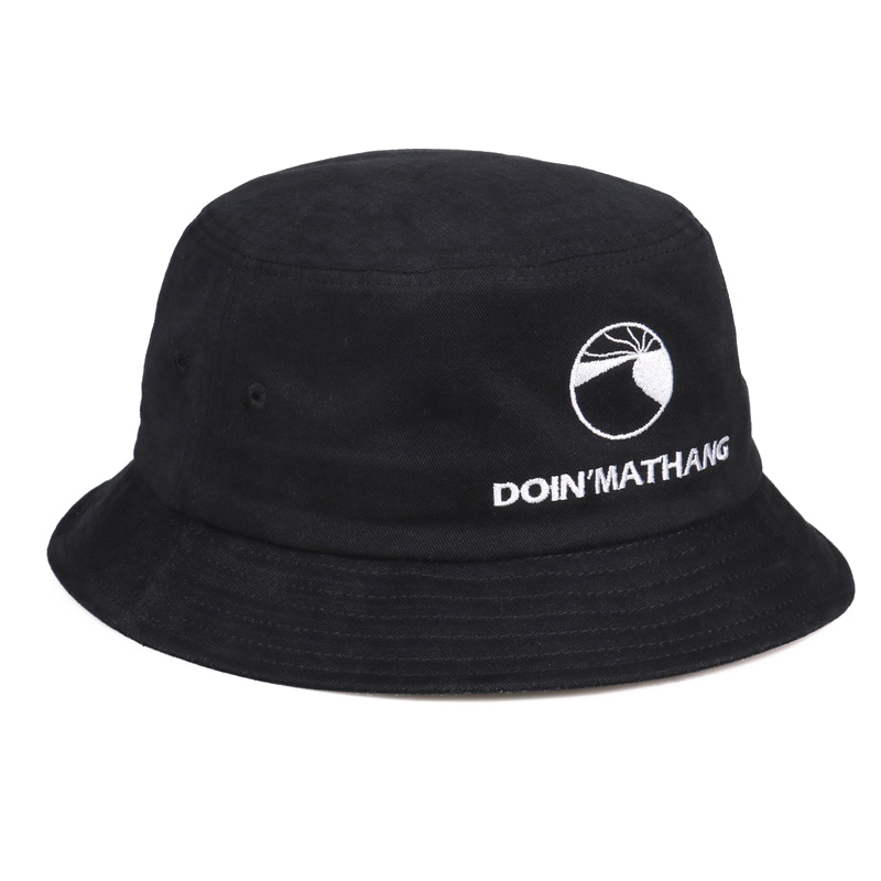 LOGO PEACH BUCKET HAT [BLACK]