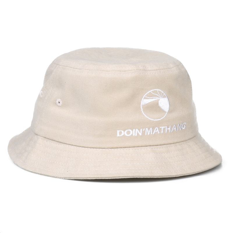 LOGO PEACH BUCKET HAT [BEIGE]